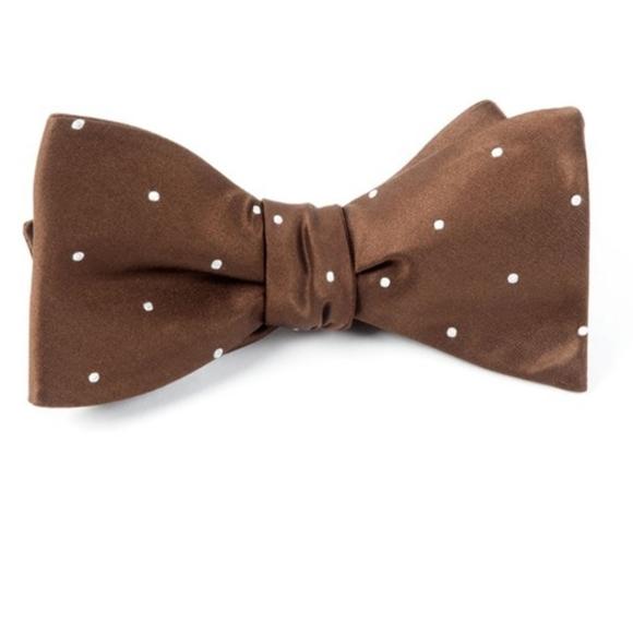 Mens Salmon Pre-Tied Cotton Bow Tie On Adjustable Twill Strap